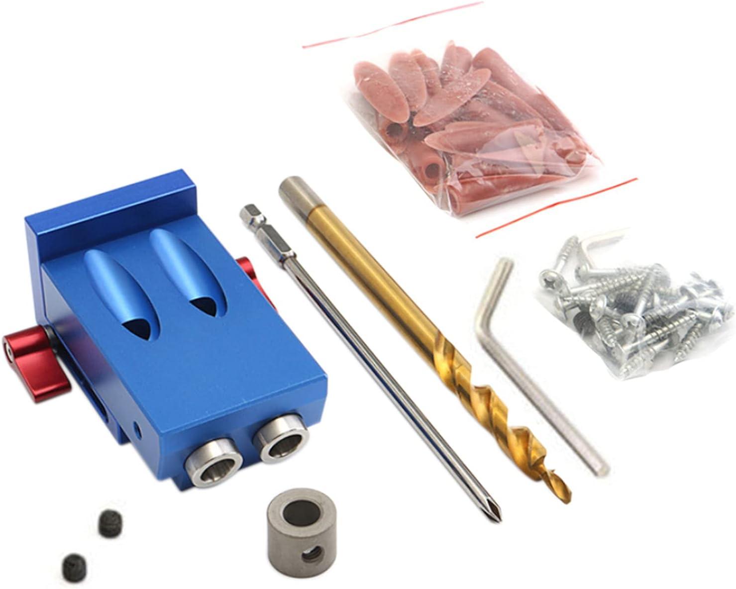 Vistreck Pocket Hole Jig Kit System Juego de herramientas de carpintería con taladro escalonado para trabajar la madera