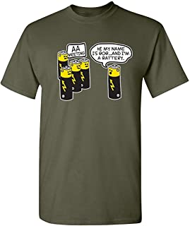Battery Meeting Novelty Graphic Gift Idea Alcoholic Gift Idea Very Funny T Shirt