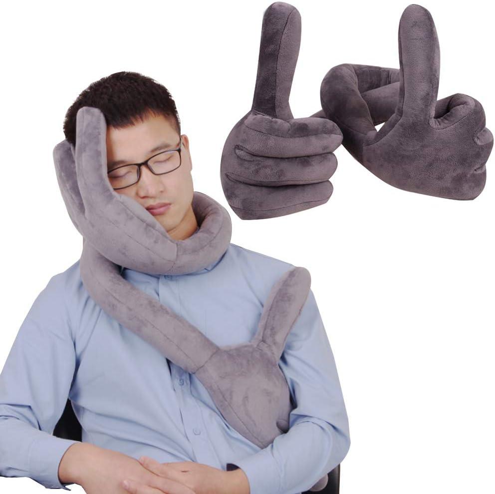 BestCatgift Palm Travel Pillow Adjustment Position with Sleeping Bombing new work Sacramento Mall