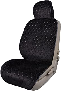 CAR PASS Full Cover Quilting Sideless Universal fit Car Seat Cover,seat Cushion, Easy fit with Vehicle,suvs,sedans,Vans,Install Within Seconds (ONE Piece Package, Black with Gray)