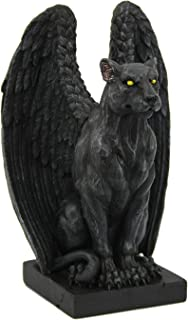 Pacific Giftware Jaguar Winged Gargoyle Collectible Figurine 6 Inches Tall