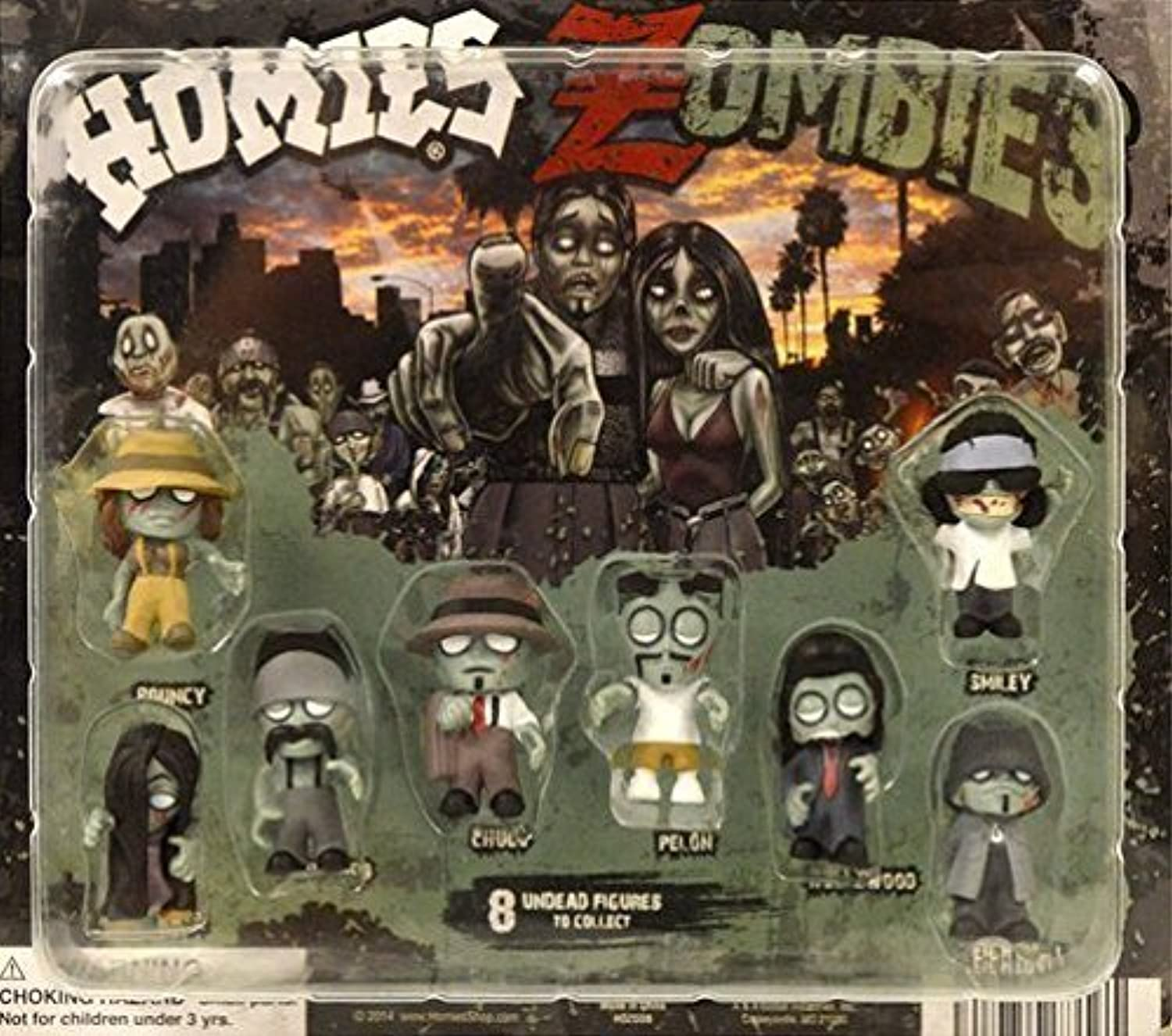 Homies Zombies Figures - Set of 8 by AAG