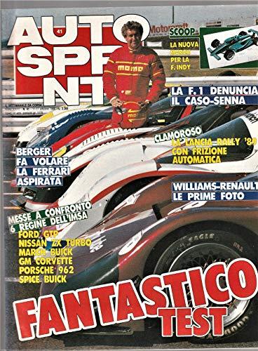 Autosprint 41 ottobre 1988 Gp Spagna, Senna in crisi, esordio Williams-Renault, nuova March, Ravaglia a Monza