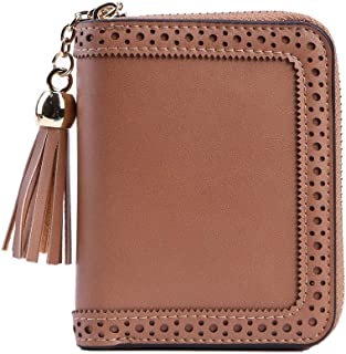 RFID Blocking Card Cases Women's Credit Card Holders Small Zipper Wallet With 22 Card Slots