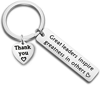 FOTAP Boss Gift Great Leaders Inspire Greatness in Others Keychain Thank You Gift for Supervisor, Mentor