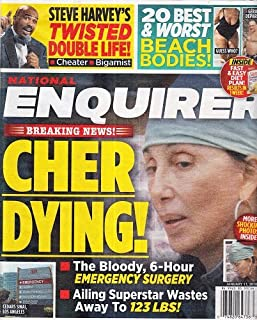 January 11, 2016 National Enquirer Cher Dying! Steve Harvey's Twisted Double Life! 20 Best & Worst Beach Bodies!