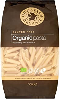 Doves Farm Organic Gluten Free Brown Rice Penne Pasta (500g) - Pack of 2