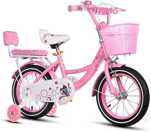 ZCRFY Safe Enfants Vélo Filles étudiant Toddlers Vélo De Bébé pour Enfants Haute Teneur en voiturebone Pneu Anti-Dérapant Siège Rembourré d'anniversaire De Cadeau