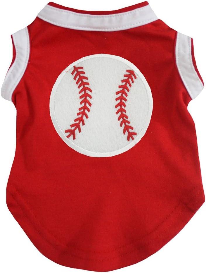 latest Petitebella Baseball Print Red Puppy Indefinitely Shirt Dog