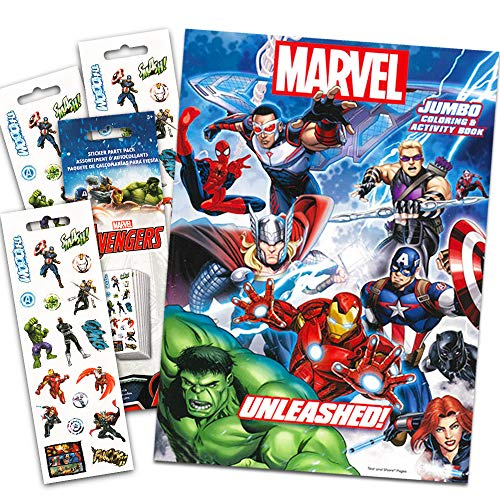 Marvel Avengers Coloring & Activity Book with Temporary Tattoos: Spider-man, Thor, Iron Man, Captain America, The Incredible Hulk