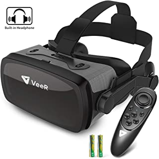 VeeR Falcon VR Headset with Controller, Eye Protection Virtual Reality Goggles to Comfortable Watch 360 Movies for Android, Samsung Galaxy, Huawei and iPhone XR & Xs Max