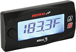 Koso BA003245 Mini 3 Cylinder Head Temperature Meter