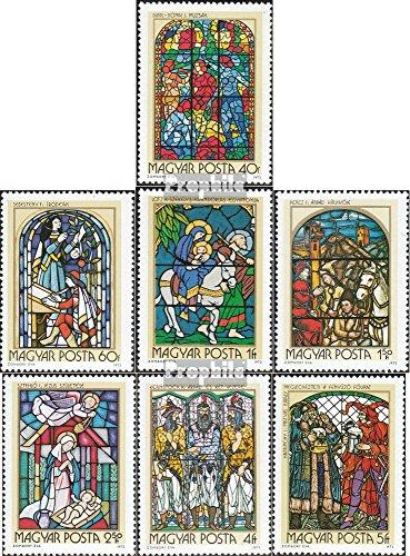 Prophila Collection Ungarn 2817A-2823A (kompl.Ausg.) 1972 Glasmalereien (Briefmarken für Sammler) Christentum