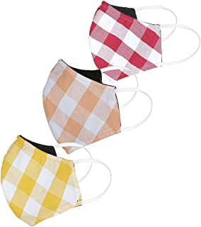 Diverse Cotton Unisex Face Mask – Multicolor, Free Size, Pack of 3