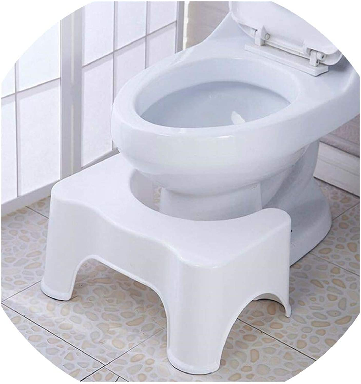 New Qualified Squatty Bathroom Thicken Folding Portable Stools Toilet Stool Step Footstool Piles Relief Aid Safety Folding Stool,White