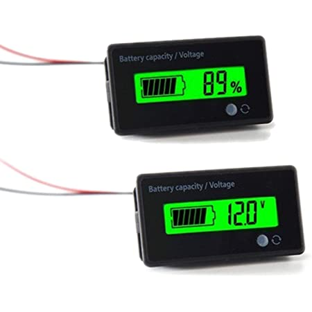 Zeerkeer LED Digital Batterieanzeige RL-BI003 12-24V 10-Segment-LED-Batteriestandsanzeige Batteriestandsanzeige Instrument Coulomb-Batterie-Tester f/ür Bodenpflegeger/äte Motorrad Marine Golfwagen