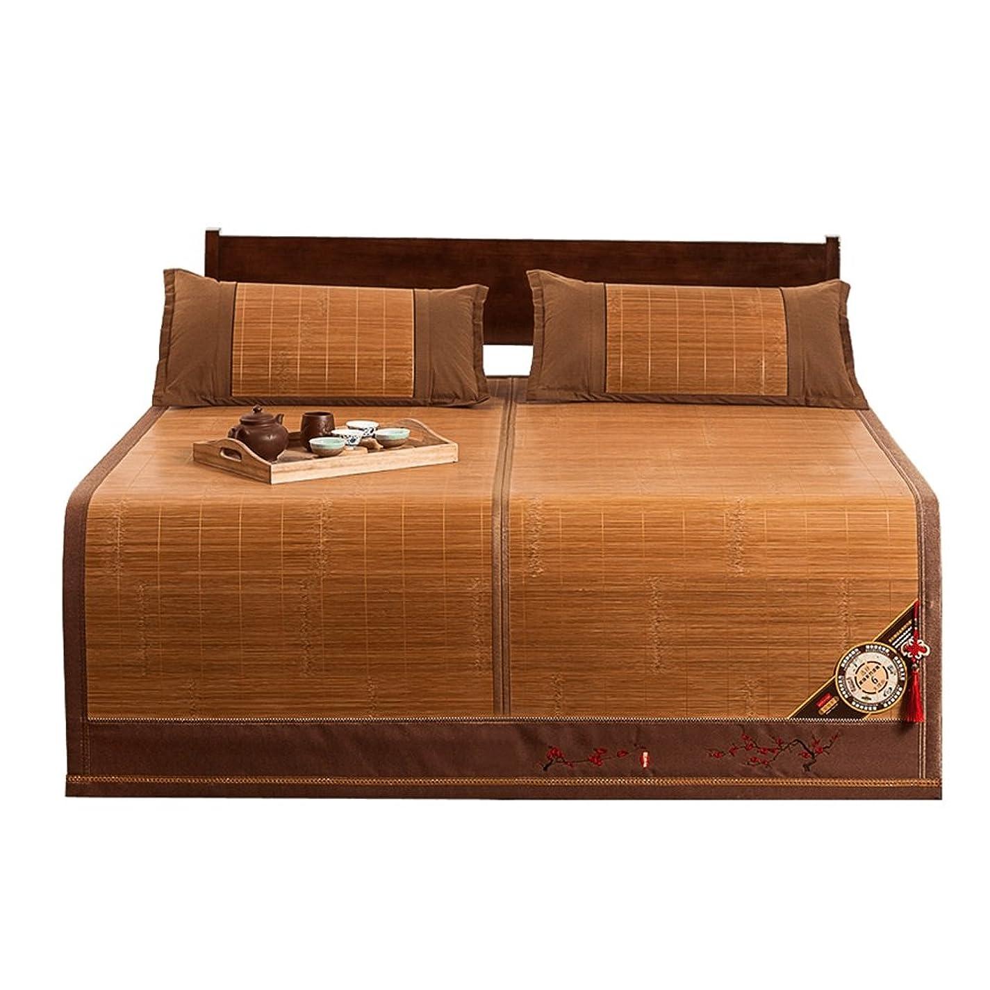 ピルトランスミッションまたLITT クールマットレス、寝具ストローマット寝袋マットベッドマット折りたたみ式両面肌触り快適、1.5 / 1.8m 竹クールマットレス (Size : 1.5×1.95m)