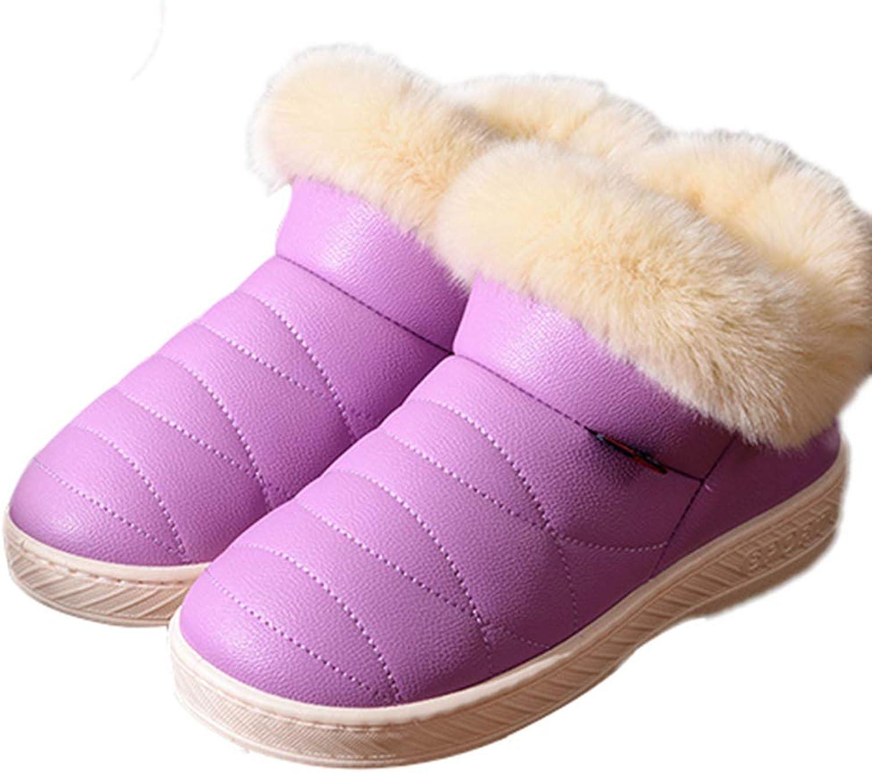 Waterproof Flat Boots Warm Winter Fashion Cotton Platform Women Home Indoor Non-Slip Fur Women shoes