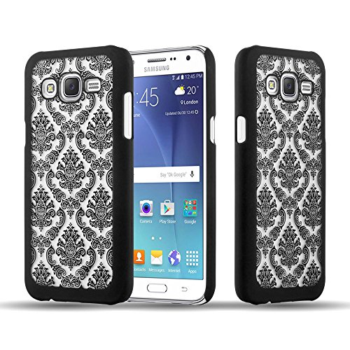 Preisvergleich Produktbild Cadorabo Hülle für Samsung Galaxy J7 2015 (5) - Hülle in SCHWARZ Hardcase Handyhülle im Mandala Design - Schutzhülle Bumper Back Case Cover