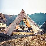 Indisches Zelt Outdoor tragbares wasserdichtes Camping Pyramide Tipi Zelt Octagon Adult Tipi Zelt mit Herdloch Camping Steeple Jurte Zelt