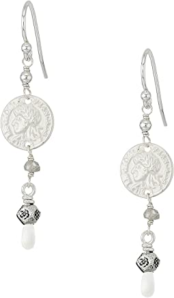 Chan Luu - Drop Earrings with Coin and Semi Precious Stones