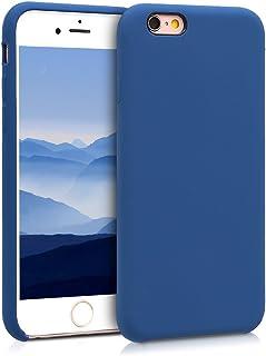 kwmobile Funda Compatible con Apple iPhone 6 / 6S - Carcasa de TPU para móvil - Cover Trasero en Azul Marino