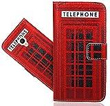 Alcatel Pixi 4 (5') 4G Handy Tasche, FoneExpert® Wallet Case Flip Cover Hüllen Etui Hülle Ledertasche Lederhülle Schutzhülle Für Alcatel Pixi 4 (5') 4G