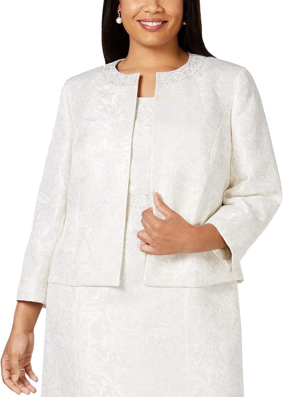 Kasper Womens Ivory Wear to Work Jacket Size 18W