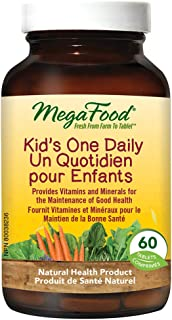MegaFood - Kids One Daily, Children's Multi-Vitamin to Support Healthy Growth and Development, 60 Mini-Tablets