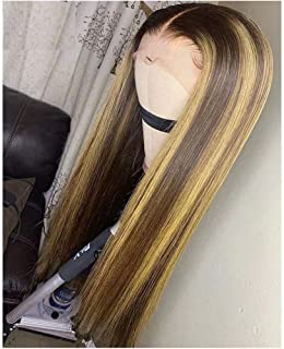 QUINLUX HAIR 150 Density #4/27 Ombre Highlight Color Lace Front Human Hair Wigs With Baby Hair for Black Women 13X6 Deep P...