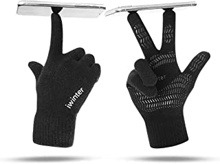 Moterbear Winter Knit Gloves Touchscreen Warm Thermal Soft Lining Elastic Cuff Texting Anti-Slip for Women Men