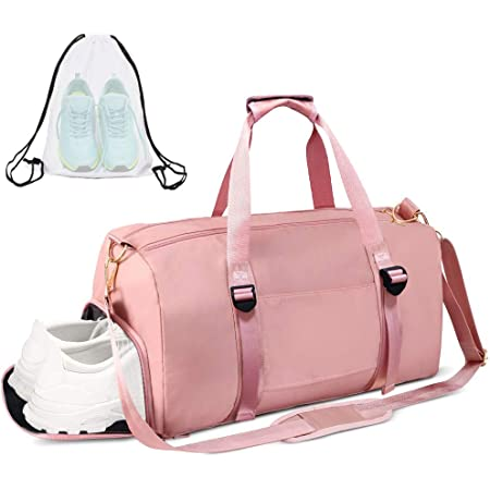 Lightweight,Alpaca Animal Couple Pink 18 Sports Gym Bag Travel Duffel bag with Wet Pocket Compartment/for men women