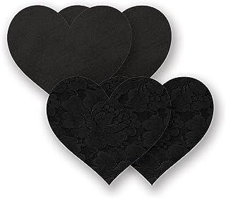 Nippies Black Heart Waterproof Adhesive Fabric Nipple Cover Pasties