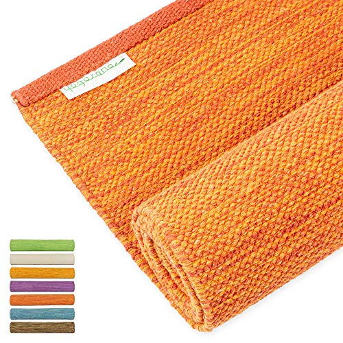 Yogasana Yoga Mat For Restorative Yoga For Men, Thick Eco-Friendly Cotton, Home Workout Floor Exercise, Meditation, Superior Grip Non Slip,...