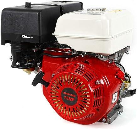 Motor de gasolina de 4 tiempos de 9 kW de RANZIX 15 CV (25 mm de diámetro de onda, protección contra falta de aceite, 1 cilindro, 4 tiempos, refrigerado por aire, arranque manual)