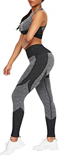 JOYMODE Women's 2 Piece Workout Set Long Sleeve Tracksuit Thumb Hole Front Zipper Crop Top with Butt Lift Shaping Pants