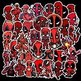 SHUYI Marvel Cartoon Anime Superhero Deadpool Stickers 35 Balancing Car Locomotive Stickers Next To Laptop
