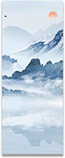 Memoirs- Modern Chinese Landscape Scenery Style, Posters and Prints Canvas Painting Pictures for Living Room Wall Art Home Decor,40x80cm No Frame,B