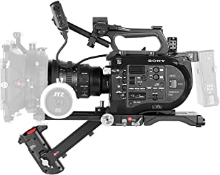 JTZ DP30 Camera Base Plate + Electronic Hand Grip + Shoulder Pad Support Rig 15mm Rod Kit for Sony FS7 PXW-FS7 Camera