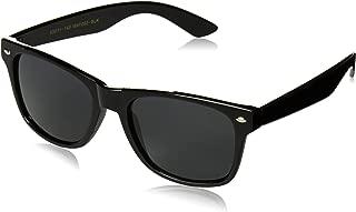 WearMe Pro - Premium Black Classic Horn Rimmed Square 80's Retro Sunglasses For Men Women