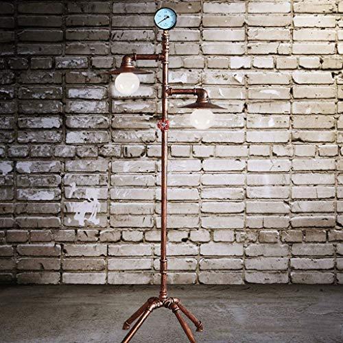 GX Industrielle Vintage Stehlampe,Europäischen Retro Schmiedeeisen Stehlampe Wohnzimmer Studie Vertikale Rohr Lampe Haushaltslampe Haus Dekoration A+