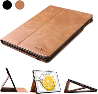 Boriyuan iPad Mini 5 2019/Mini 1 2 3 4 Leather Case Genuine Leather Soft TPU Back Smart Cover Protective Case with Auto Sleep/Wake Funciton (Brown)
