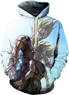 3D Printed Dragon Ball Z Pocket Long Sleeve Hoodie Goku Pullovers Hooded