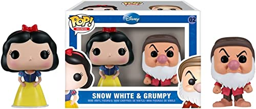 [UK-Import]Funko Snow Weiß and Grumpy Mini Pop  Vinyl Figure 2-Pack