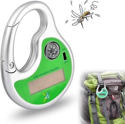 GuDoQii Al Aire Libre Repelente de Mosquitos Portátil Alimentado por Energía Solar Mosquito Repelente con Brújula