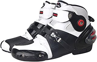 NEW Men`s Motorcycle Racing Boots White US 10
