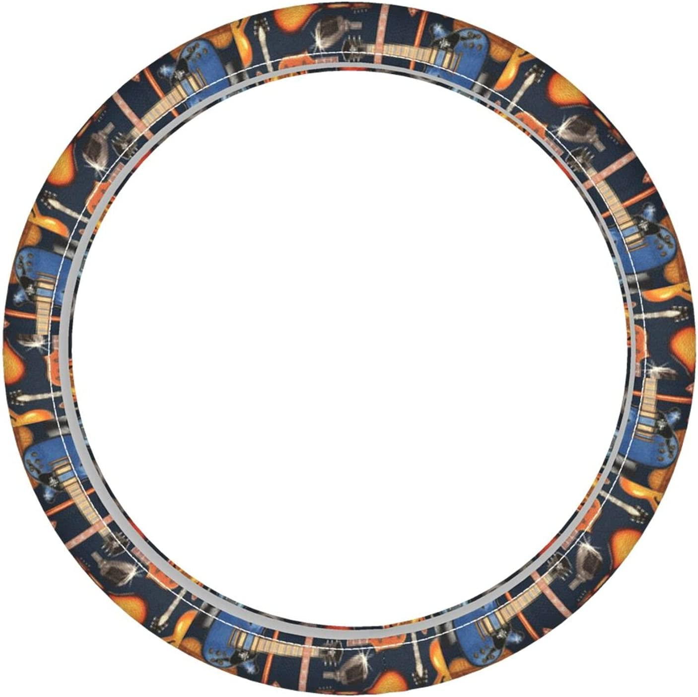 Newwo Max Overseas parallel import regular item 88% OFF Guitar Music Car Accessories Steering Wheel Cover Leather