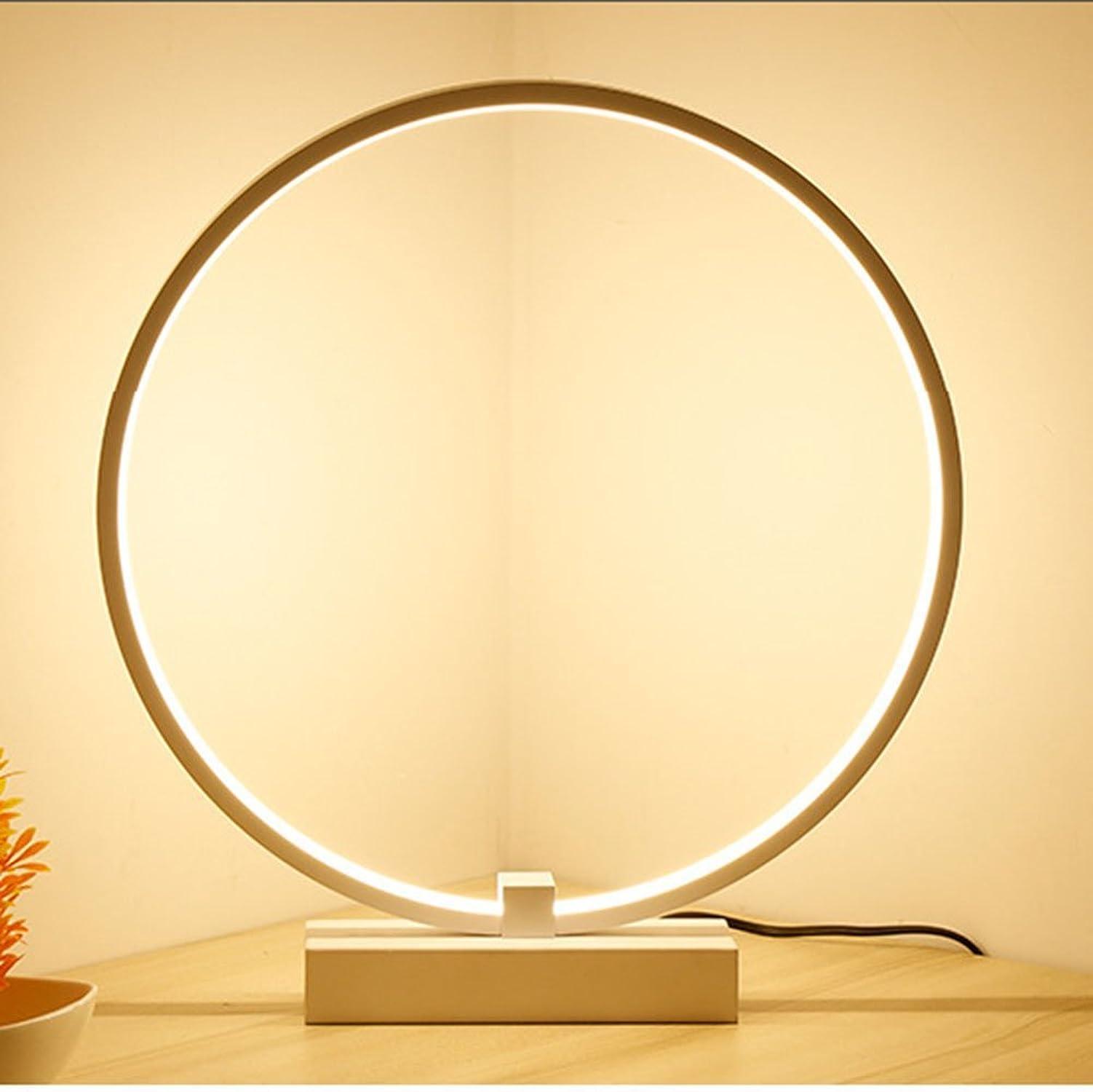 ahorra hasta un 80% DTVX Lampada da Tavolo a a a LED, Moderna lampada da Tavolo in alluminio LED Nordic Circle, lampada da Tavolo in acrilico ad Alta traslucenza (Color  Luce calda),30cm  presentando toda la última moda de la calle