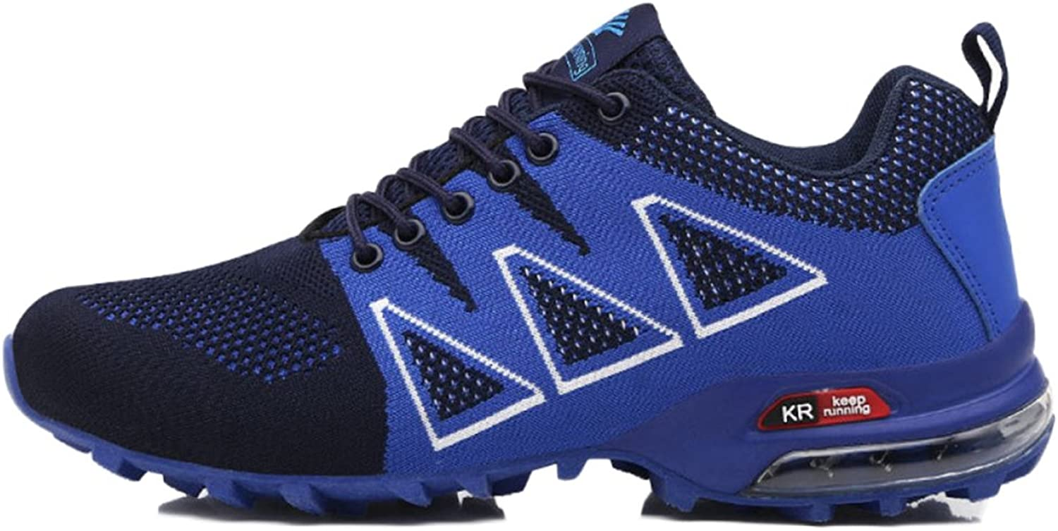 ASJUNQ Cross Country Running shoes Sports shoes Comfortable Non-Slip,bluee-44