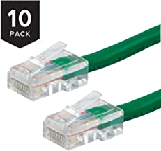 Buhbo 4 ft Cat5E UTP Ethernet Network Non Booted Cable (10-Pack), Green
